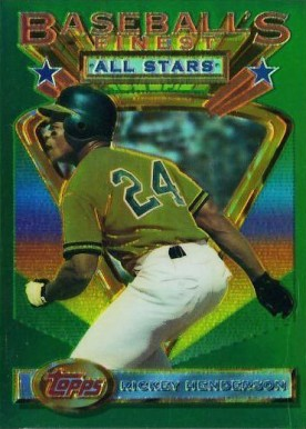 1993 Finest Refractor Rickey Henderson AS #86 Baseball Card