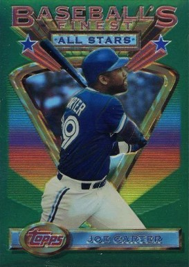 1993 Finest Refractor Joe Carter #94 Baseball Card