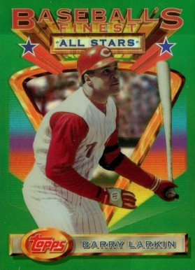 1993 Finest Refractor Barry Larkin  #114 Baseball Card