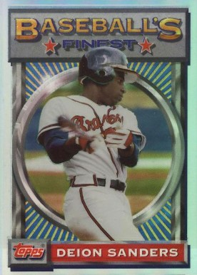 1993 Finest Refractor Deion Sanders #141 Baseball Card