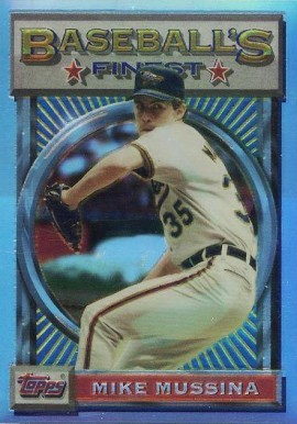 1993 Finest Refractor Mike Mussina #157 Baseball Card