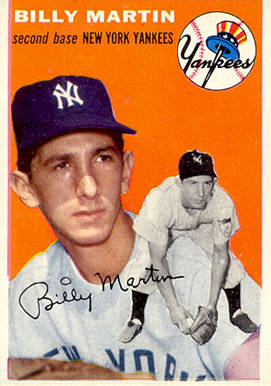 1954 Topps Billy Martin #13 Baseball Card