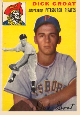 1954 Topps Dick Groat #43 Baseball Card