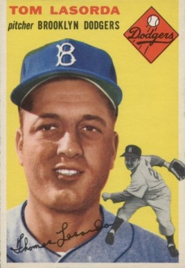 1954 Topps Tom Lasorda #132 Baseball Card