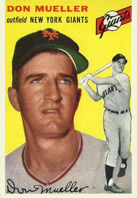 1954 Topps Don Mueller #42 Baseball Card