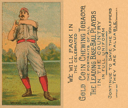 1887 Buchner Gold Coin George Wood #142 Baseball Card