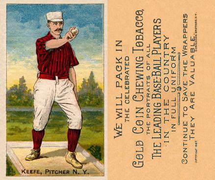 1887 Buchner Gold Coin Tim Keefe #77 Baseball Card Value