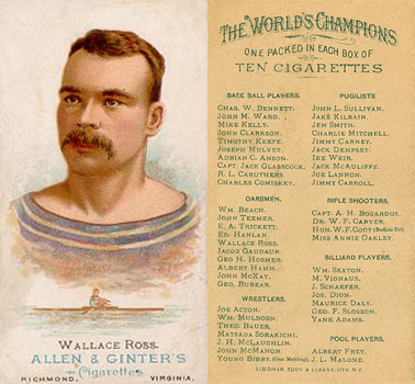 1888 Allen & Ginter Wallace Ross #39 Boxing & Other Card