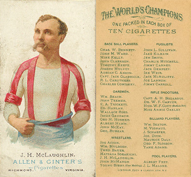 1888 Allen & Ginter J. McLaughlin #33 Boxing & Other Card