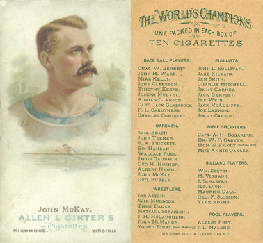 1888 Allen & Ginter Jack McKay #32 Boxing & Other Card