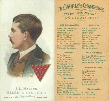1888 Allen & Ginter J. Malone #30 Boxing & Other Card