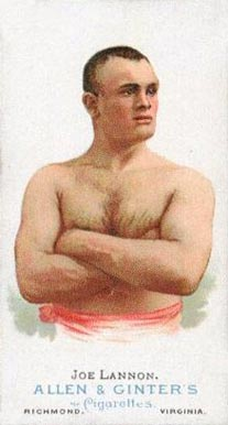 1888 Allen & Ginter Joe Lannon #29 Boxing & Other Card