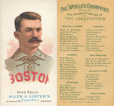 1888 Allen & Ginter King Kelly #27 Baseball Card