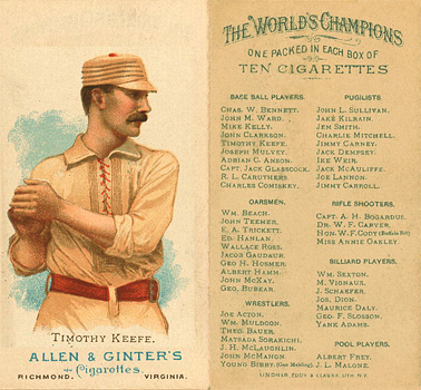 1888 Allen & Ginter Timothy Keefe #26 Baseball Card