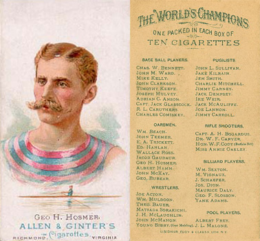 1888 Allen & Ginter  Hosmer #25 Boxing & Other Card