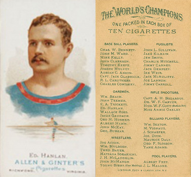 1888 Allen & Ginter Ed Hanlan #24 Boxing & Other Card