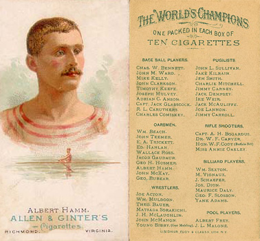 1888 Allen & Ginter Albert Hamm #23 Boxing & Other Card