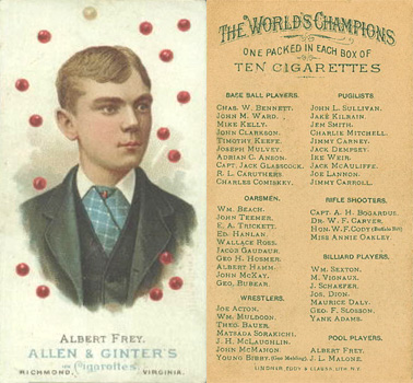 1888 Allen & Ginter Albert Frey #20 Boxing & Other Card
