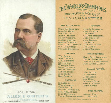 1888 Allen & Ginter Joseph Dion #19 Boxing & Other Card