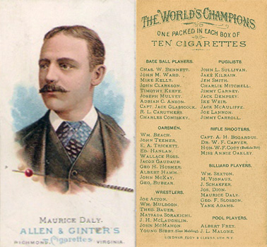 1888 Allen & Ginter Maurice Daly #17 Boxing & Other Card