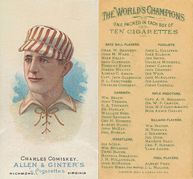 1888 Allen & Ginter Charlie Comiskey #16 Baseball Card