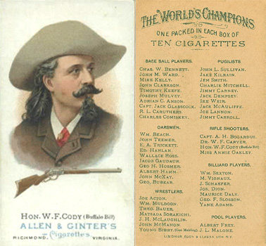 1888 Allen & Ginter Bill Cody #15 Boxing & Other Card