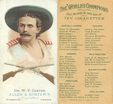 1888 Allen & Ginter W. Carver #13 Boxing & Other Card