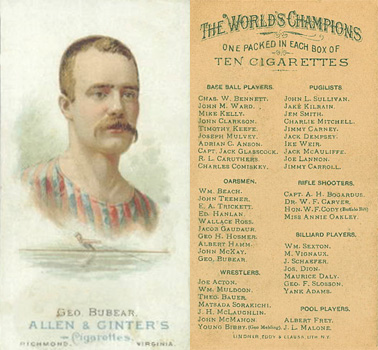 1888 Allen & Ginter George Bubear #9 Boxing & Other Card
