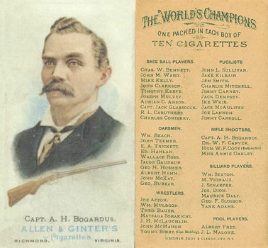 1888 Allen & Ginter A. Bogardus #8 Boxing & Other Card