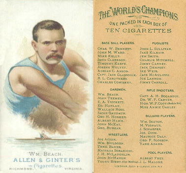 1888 Allen & Ginter William Beach #5 Boxing & Other Card