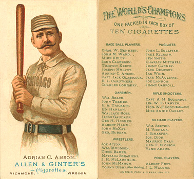 1888 Allen & Ginter Cap Anson #3 Baseball Card
