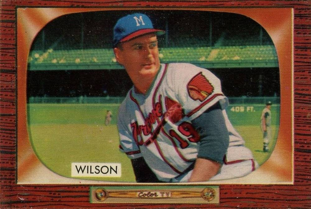 1955 Bowman Jim Wilson #253 Baseball Card