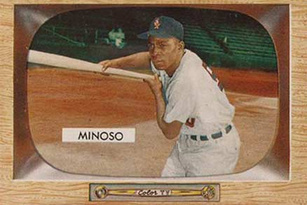 1955 Bowman Minnie Minoso #25 Baseball Card