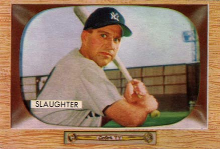 1955 Bowman Enos Slaughter #60 Baseball Card