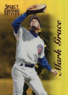 1996 Select Certified Mirror Gold Mark Grace #94 Baseball Card