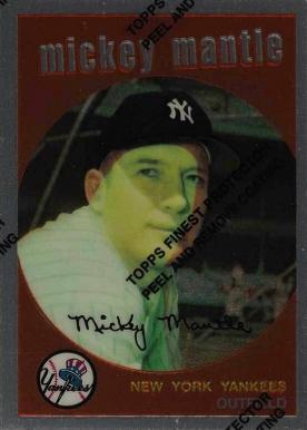 Honkbal Verzamelingen 1996 Topps Mickey Mantle Commemorative #10 1960 Topps #350 REPRINT