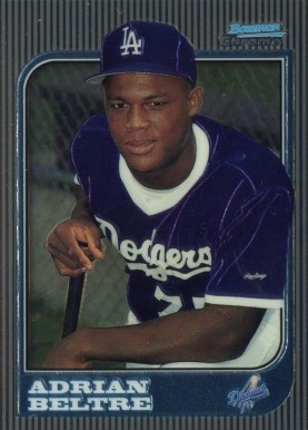 1997 Bowman Chrome Adrian Beltre #182 Baseball Card