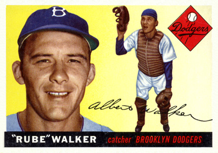 1955 Topps Rube Walker #108 Baseball Card