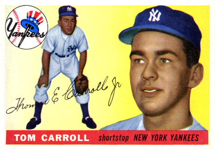 1955 Topps Tommy Carroll #158 Baseball Card
