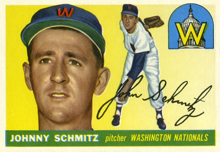 1955 Topps Johnny Schmitz #159 Baseball Card