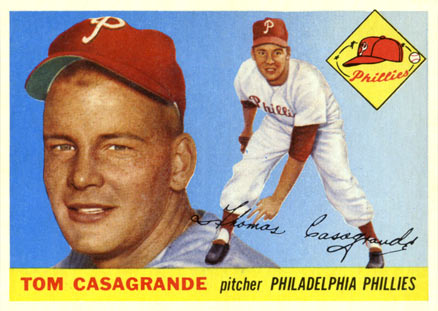 1955 Topps Tom Casagrande #167 Baseball Card