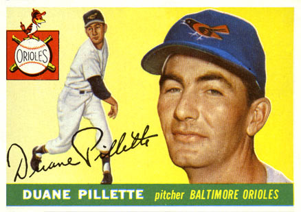 1955 Topps Duane Pillette #168 Baseball Card