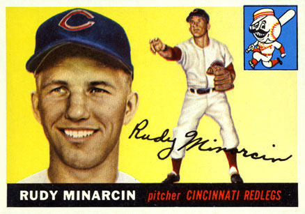 1955 Topps Rudy Minarcin #174 Baseball Card