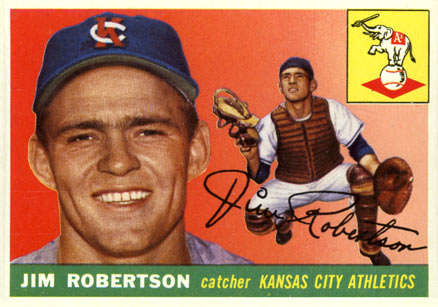 1955 Topps Jim Robertson #177 Baseball Card