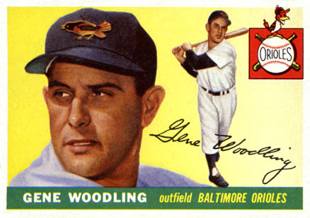 1955 Topps Gene Woodling #190 Baseball Card