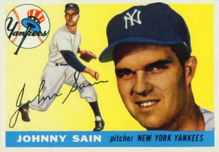 1955 Topps Johnny Sain #193 Baseball Card