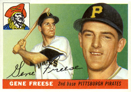 1955 Topps Gene Freese #205 Baseball Card