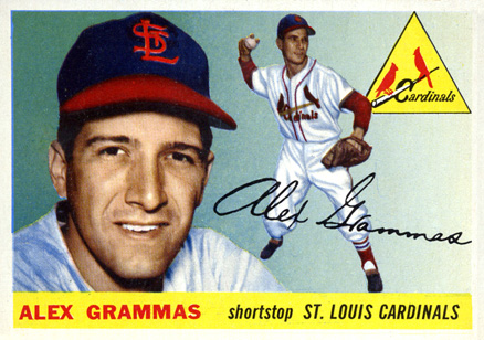 1955 Topps Alex Grammas #21 Baseball Card