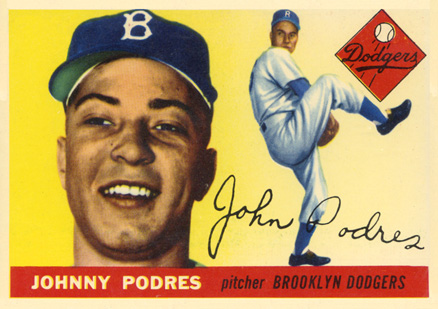 1955 Topps Johnny Podres #25 Baseball Card