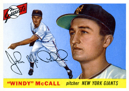 1955 Topps Windy McCall #42 Baseball Card